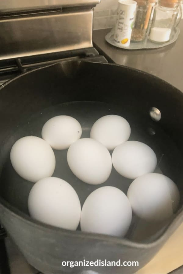 Bring Eggs to boil