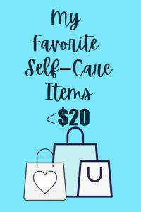 favorite self-care items