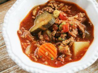 Hamburger ground beef soup