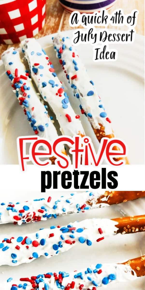 4th of July Dessert pretzels