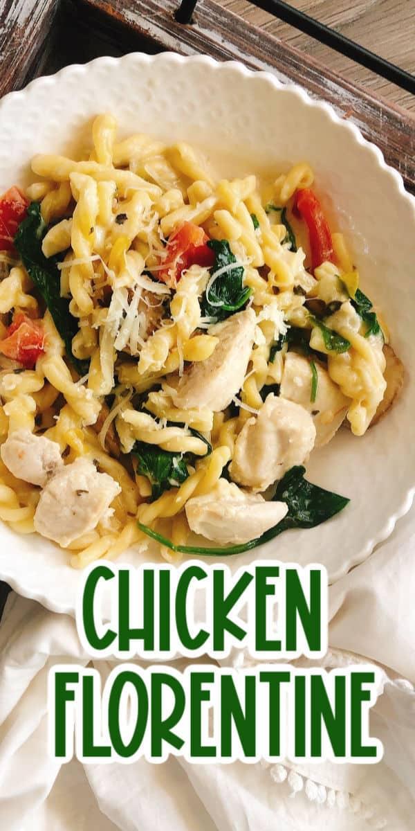 Chicken Florentine dinner