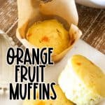 Fruit Muffins with orange
