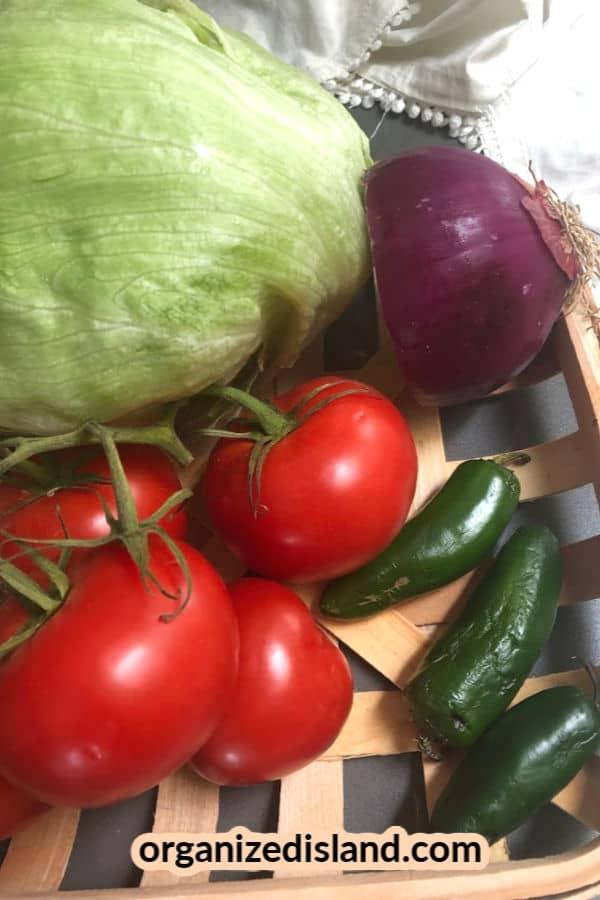 Spicy Tortilla Wrap Vegetables