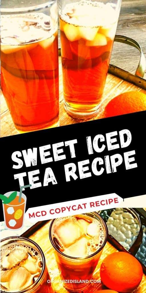 Sweet Iced Tea Recipe