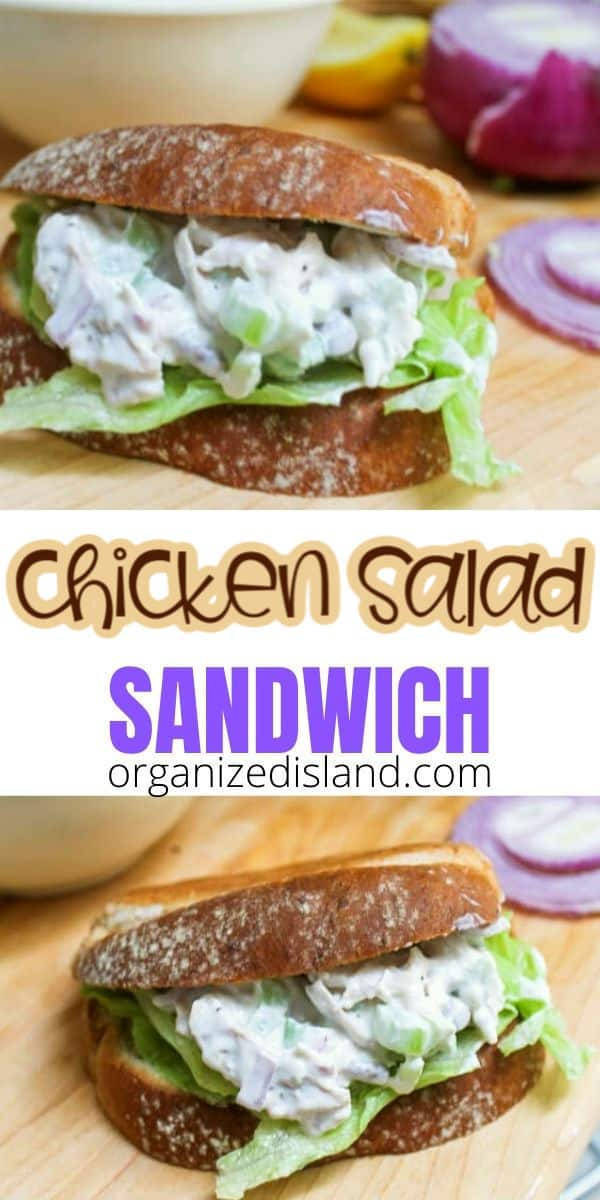 Traditional Chicken Salad Sandwich pinterest inage