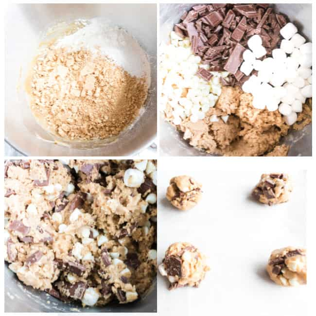 How to make Smores cookies