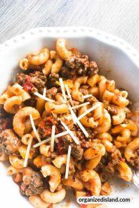 ground beef pasta
