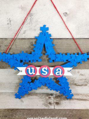 Americana Puzzle Wreath
