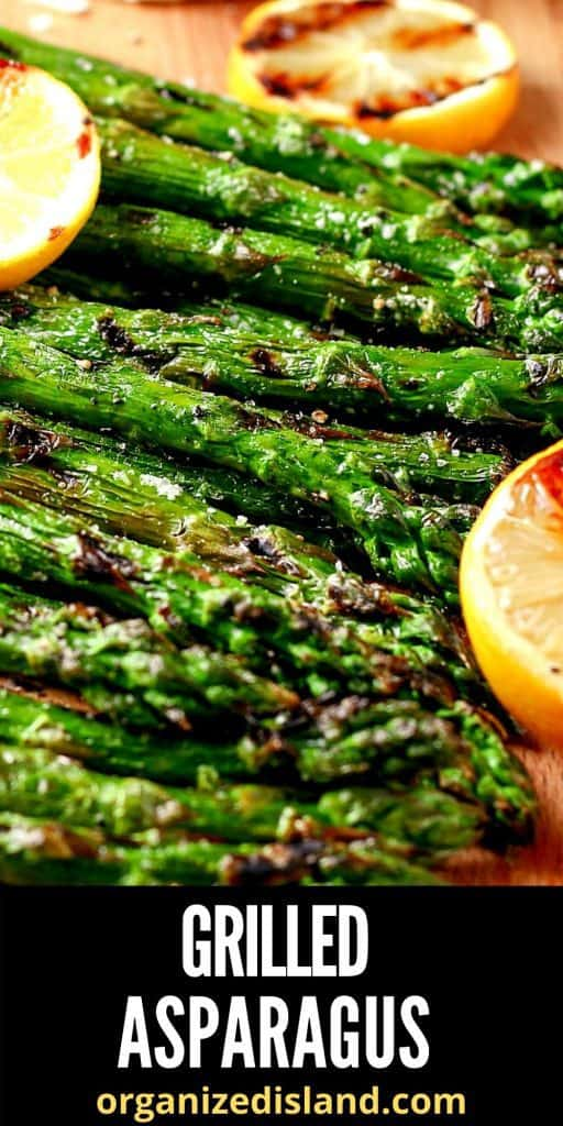 Grilled Asparagus with lemon slices