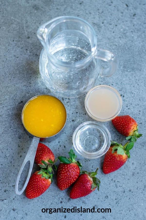 Mango Lemonade recipe ingredients
