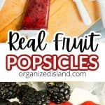 Real Fruit popsicle