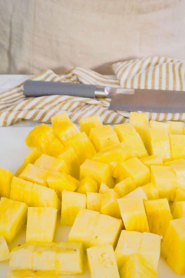 cut pineapple chunks