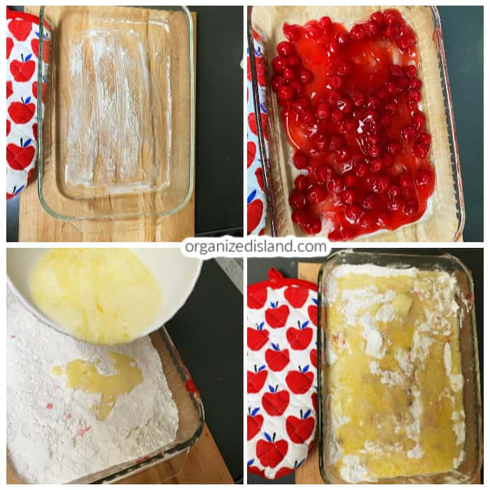 step by step how to make dump cake