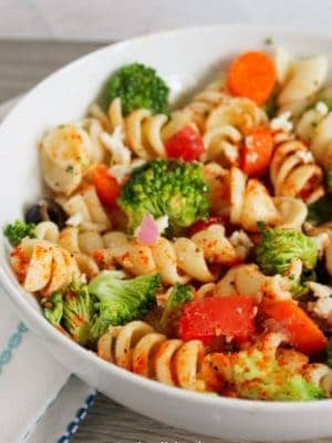 pasta salad in bowl