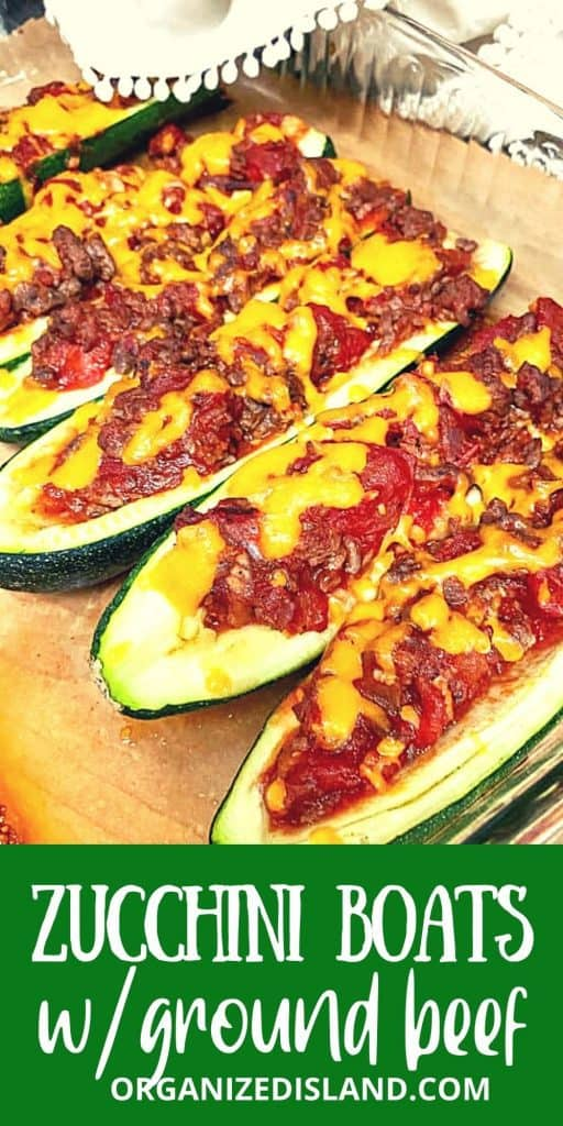 zucchini stuffed with meat and cheese
