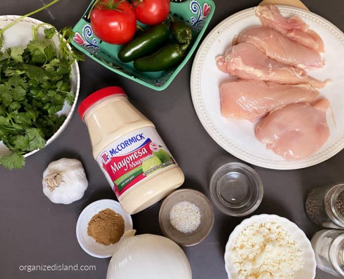 Baja chicken Ingredients
