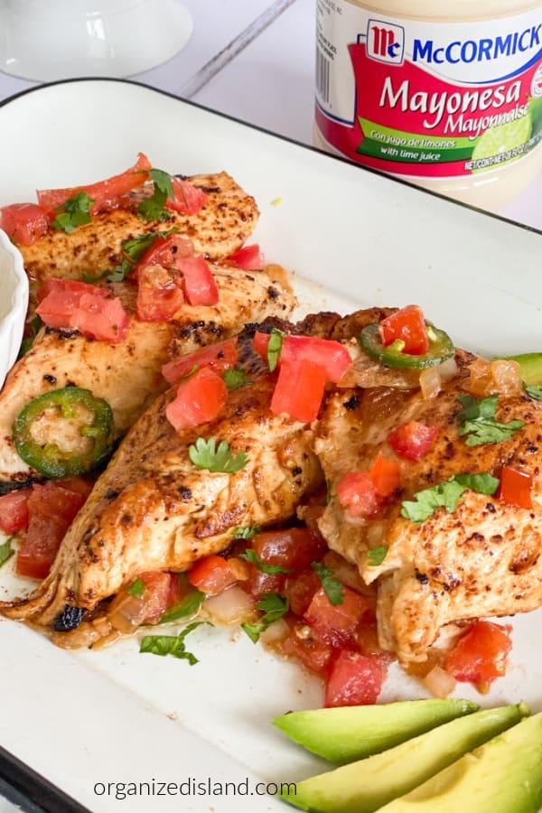 Baja chicken dinner