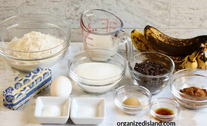 Double Chocolate Chip Banana Muffins Ingredients