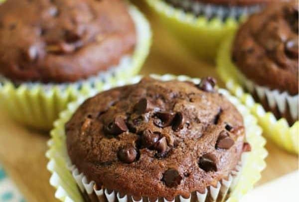 Double Chocolate Chip Banana Muffins