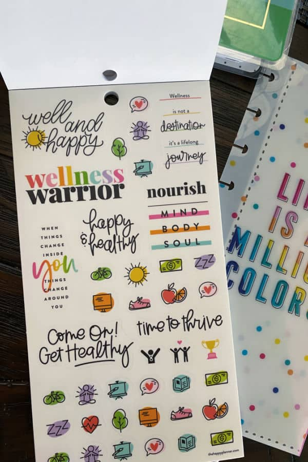 Planning a happy life stickers