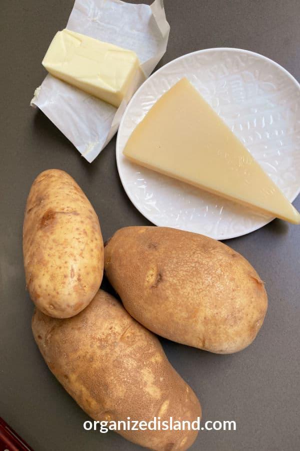 Homemade Potato Wedge Main Ingredients