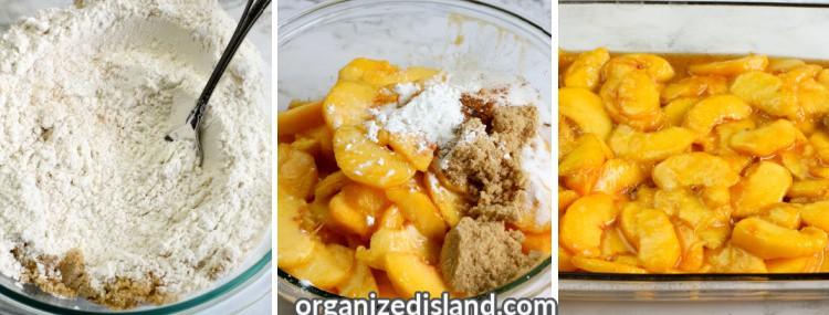 How to make peach cobbler steps