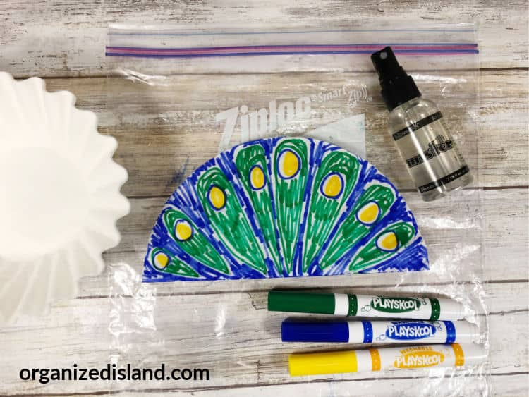 Peacock craft step 1
