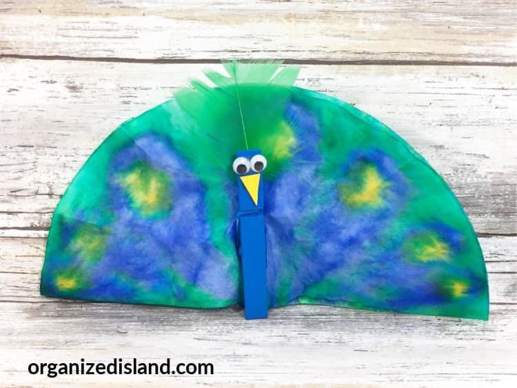 Peacock craft step 6