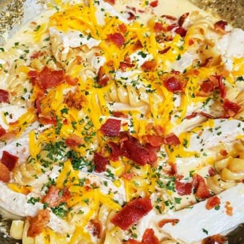 Ranch chicken pasta
