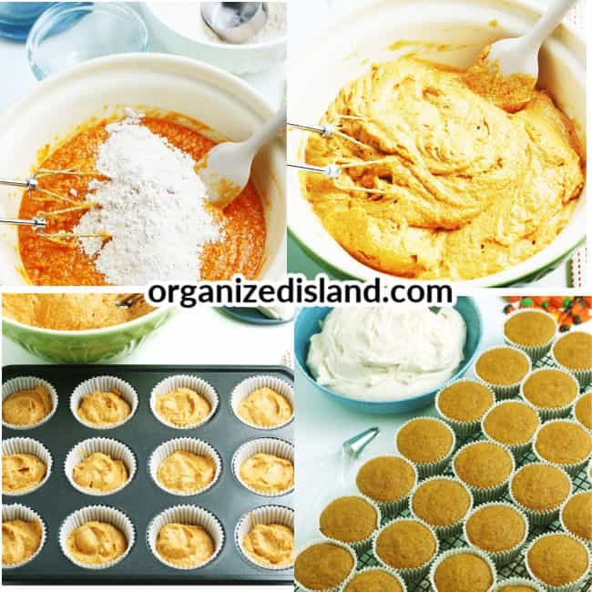 Tutorial How to make pumpkin cupcakes from scratch