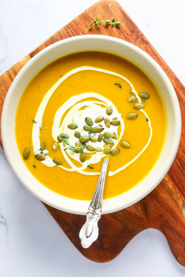 Roasted Pumpkin Soup with Cream