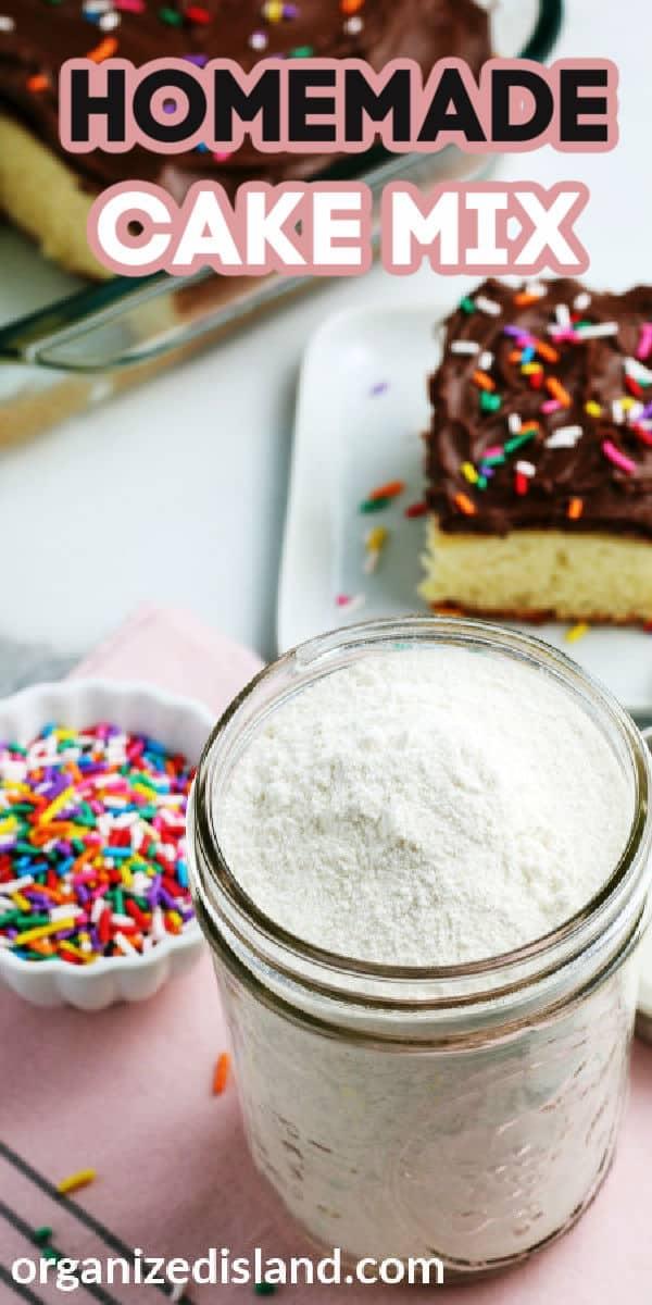 Homemade Cake Mix-Recipe