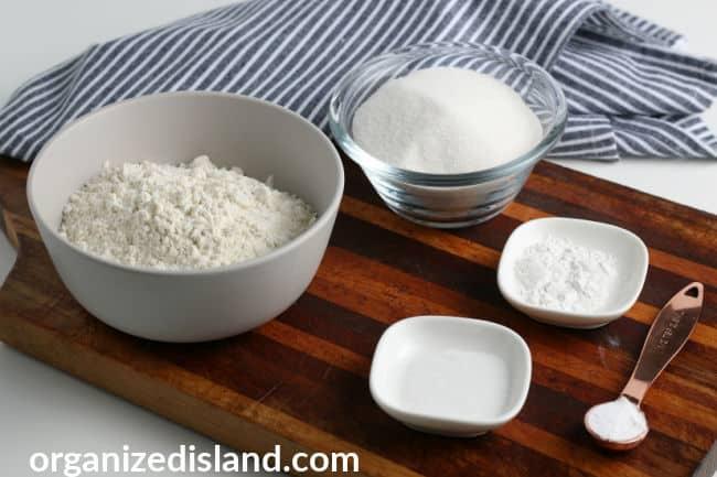 Homemade Cake Mix ingredients