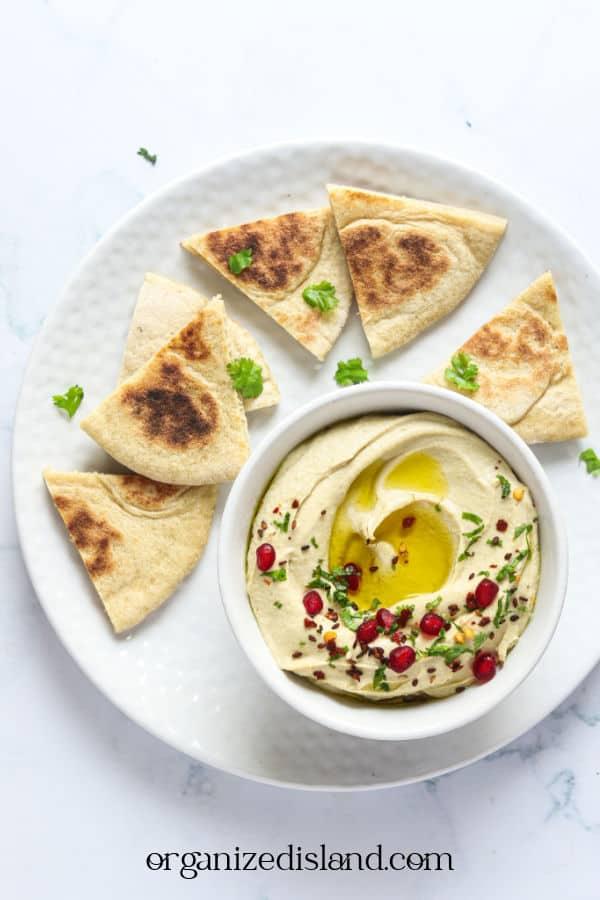 Pita Bread and Hummus
