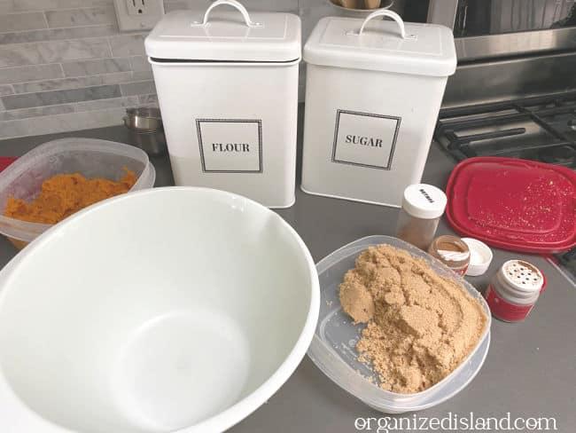 Pumpkin Snickerdoodle ingredients