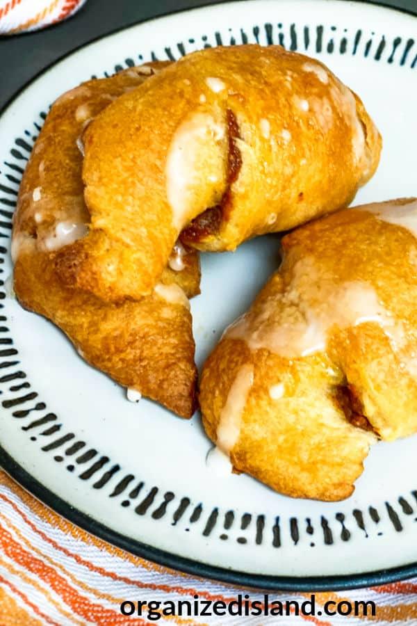 Pumpkin dessert croissants