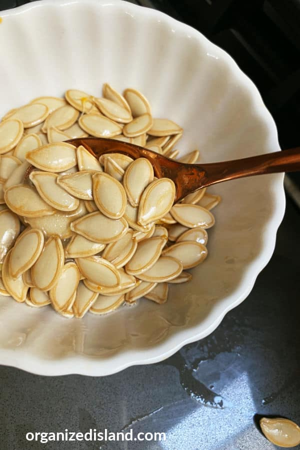 buttered pumpkin seeds