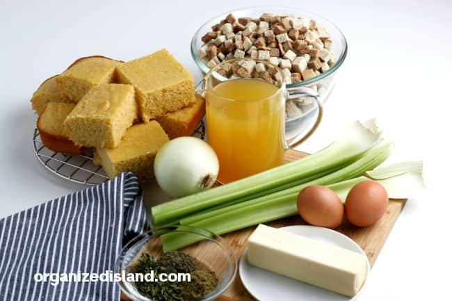 Cornbread Stuffing ingredients