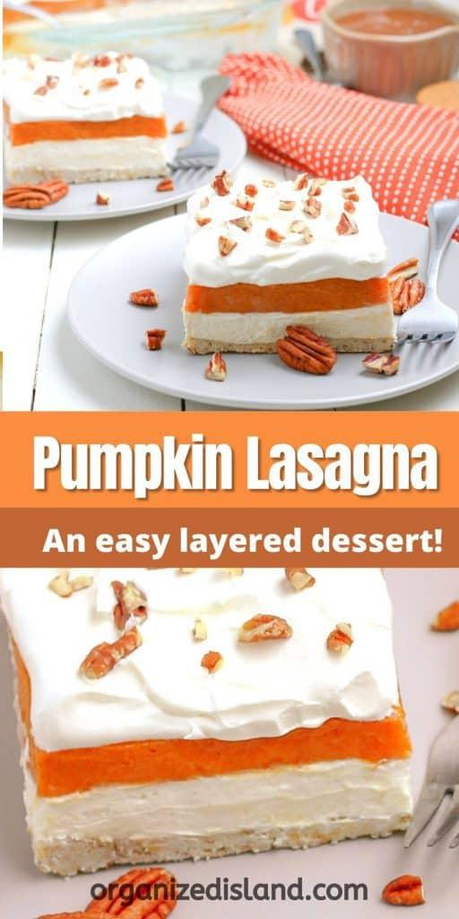 Pumpkin Lasagna layered dessert