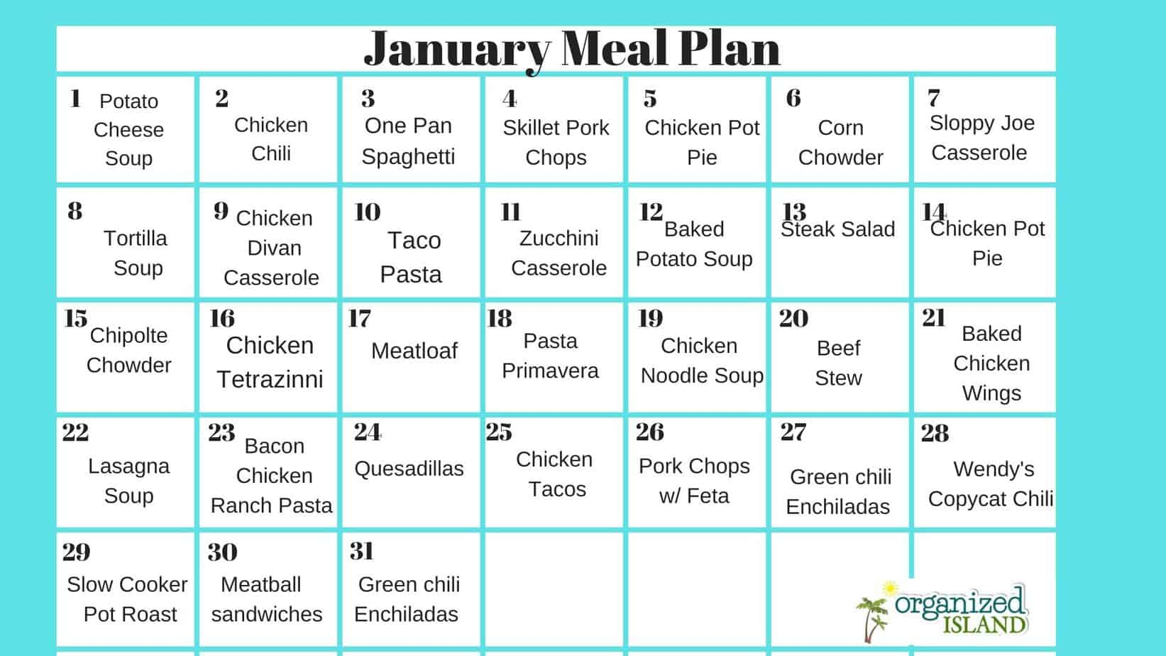 31 Day Meal Plan