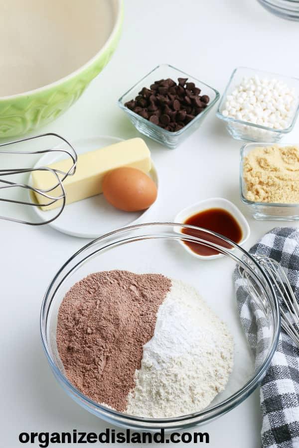 Hot Chocolate Cookies Recipe Ingredients