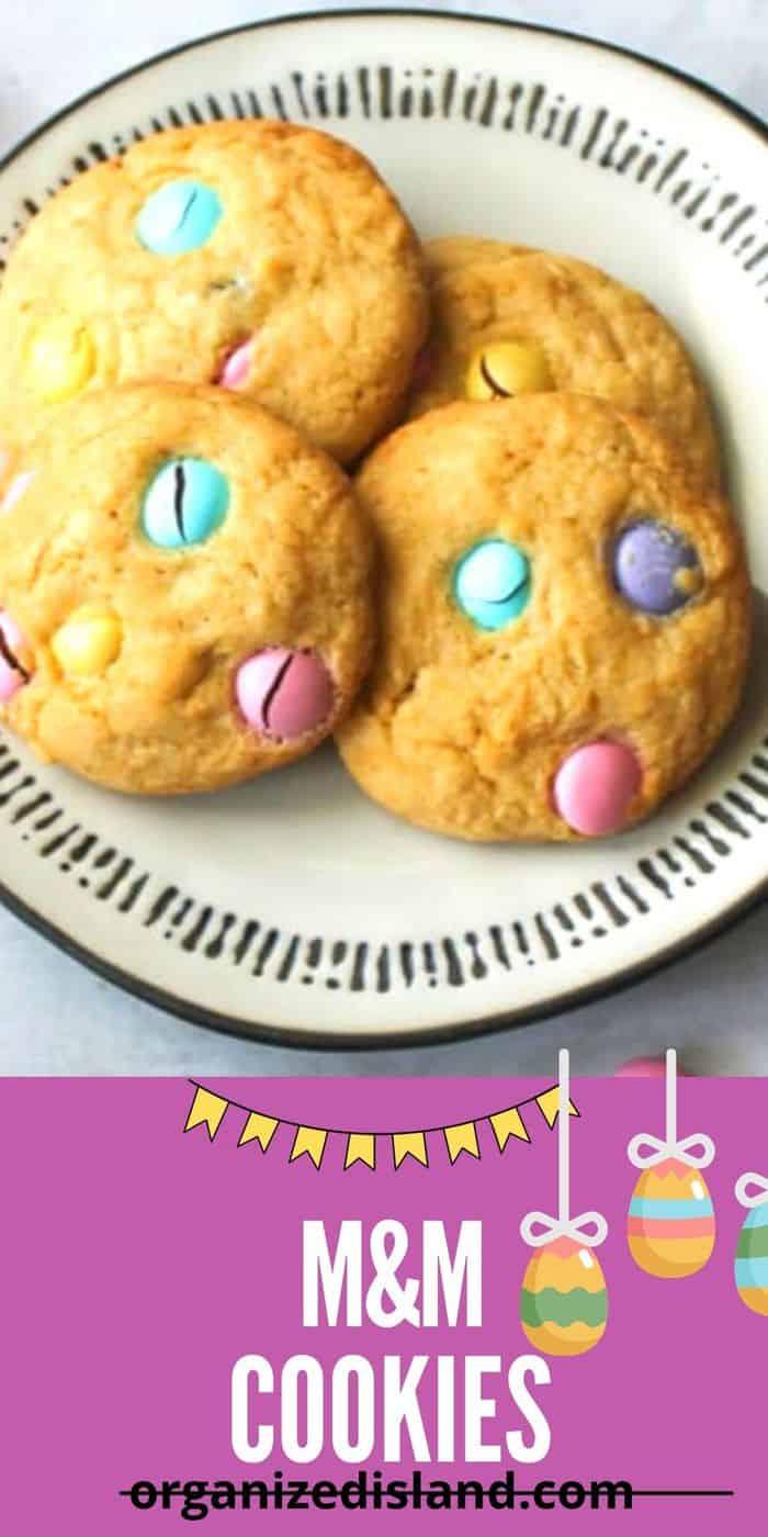 Easter M & M cookies