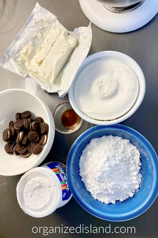 No bake Oreo cheesecake ingredients