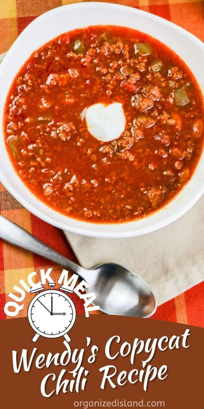 Wendy's Chili Recipe Copycat
