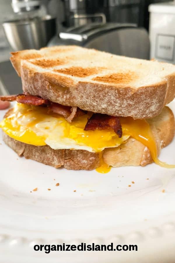 Easy Egg Breakfast Sandwich Recipe