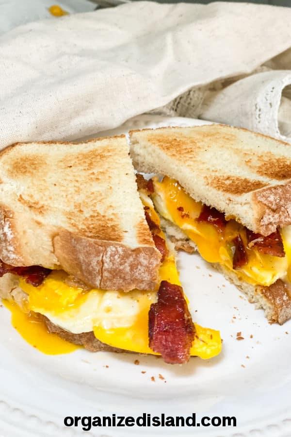 Easy Egg Breakfast Sandwich