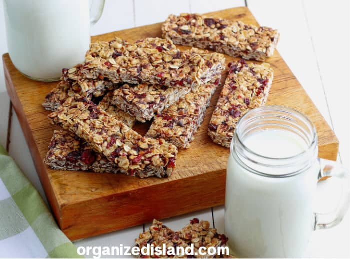 Homemade Granola Bars Recipe Horiz
