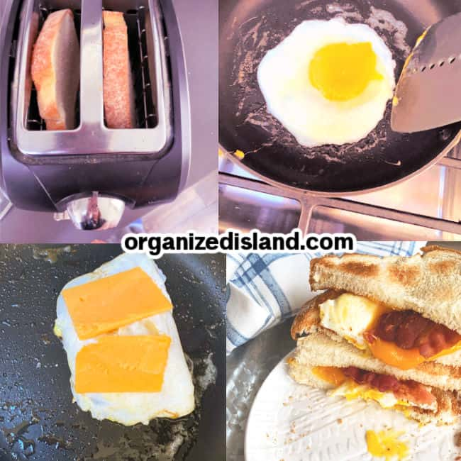 How to make Bacon Egg Sandwich