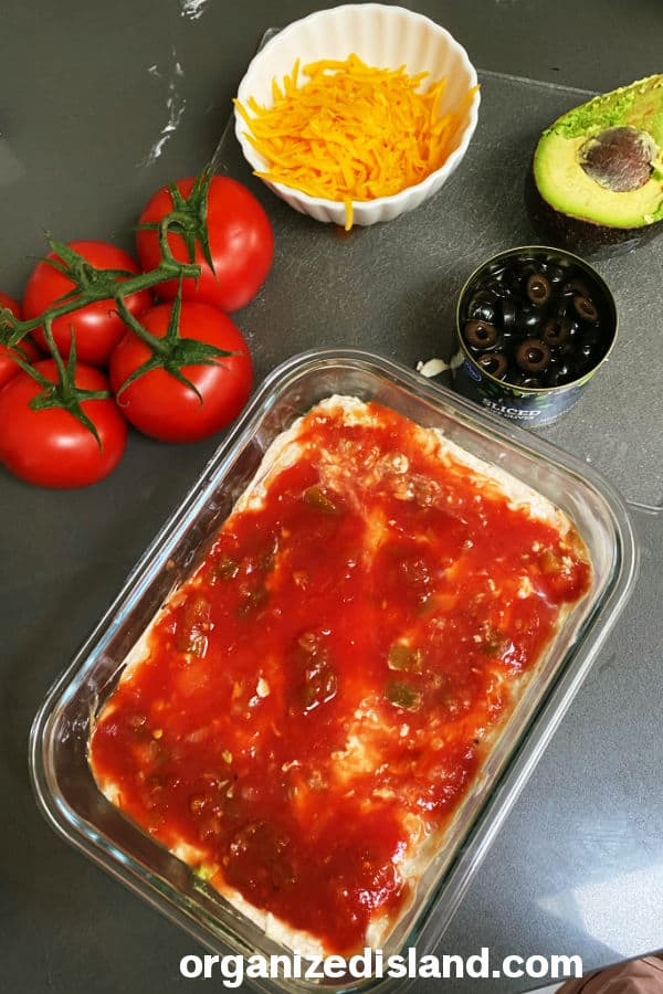 How to make a 7 layer dip fast