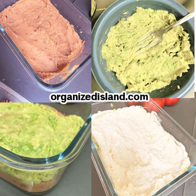 How to make a 7 layer dip